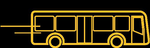 Ombord buss i rörelse